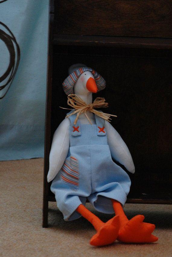 Tilda goose toy Spring decoration  handmade by DorothysDream