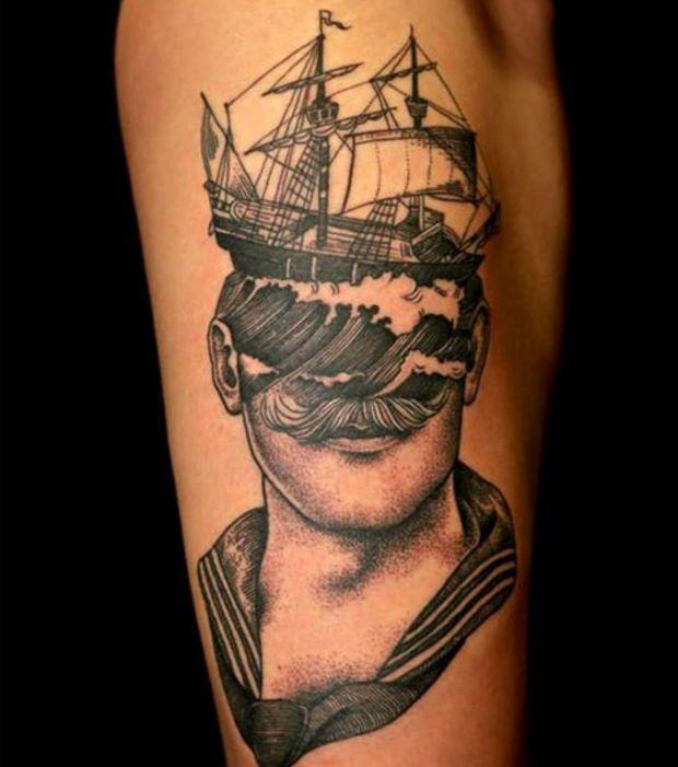 1000 id es sur le th me tatouage de bouteille sur - Tatouage original homme ...