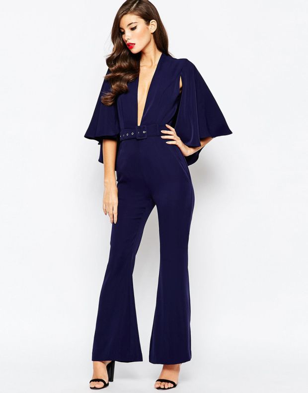 Jarlo ολόσωμη βραδυνή φόρμα σε σκούρο μπλε