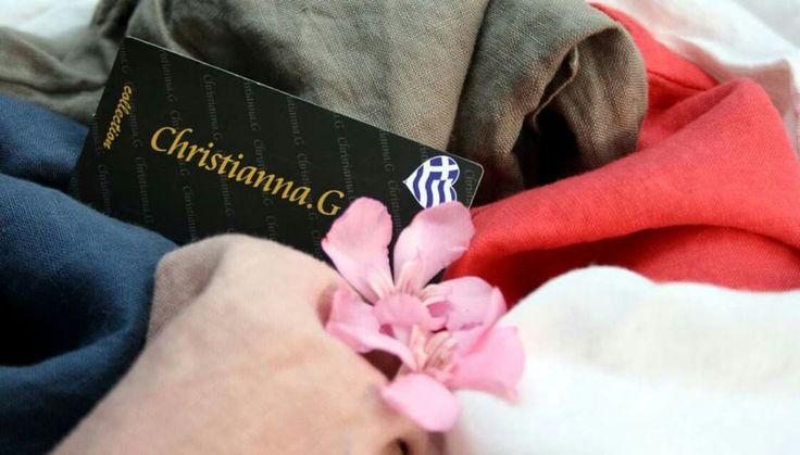 Καλημέρα και καλό μήνα από την Christianna.G 🌸 Δημιουργίες σε λινά υφάσματα, που φέρουν ελληνική υπογραφή, όλα εδώ για να δροσίσουν το καλοκαίρι μας!  #ChristiannaG #fashion #summer #collection #linen #textile