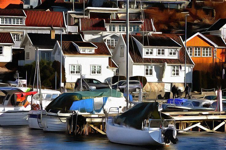Winter Harbor. Drøbak, Norway.