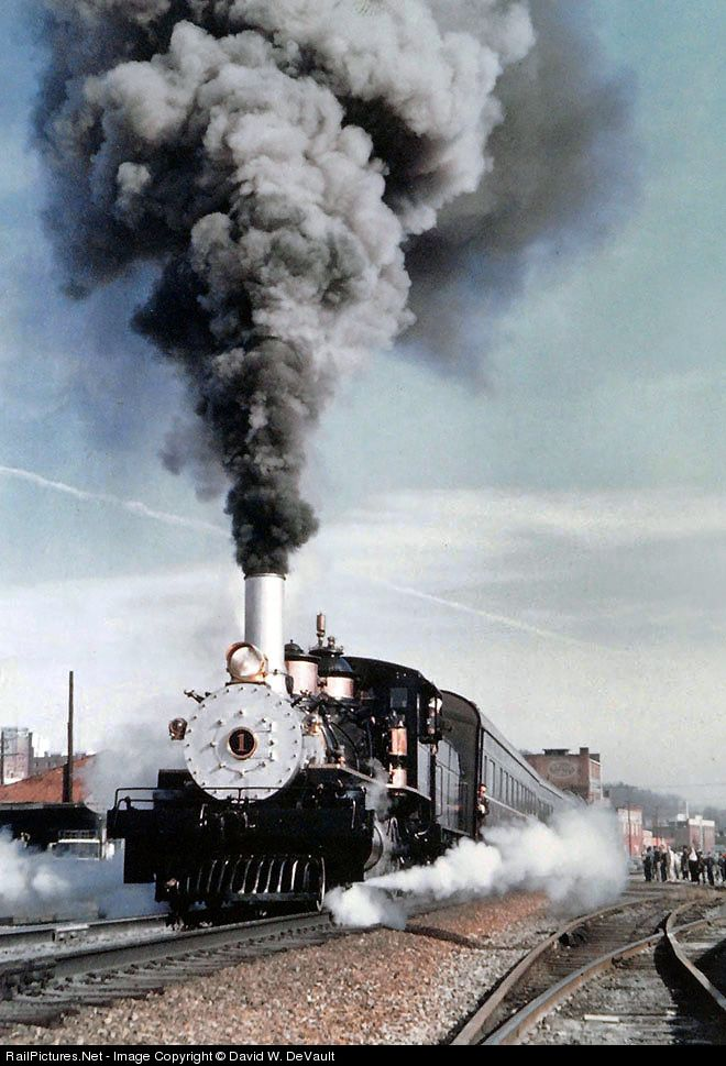RailPictures.Net Photo: CRR 1 Clinchfield Railroad Steam 4-6-0 at Johnson City, Tennessee by David W. DeVault