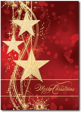 22 best christmas cards images on pinterest holiday greeting cards personalized christmas cards feature red background and gold stars twilight glow by christmas cards reheart Images