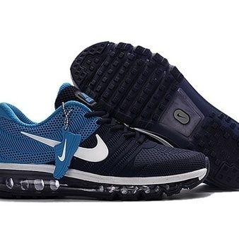 Nike Air Max 2017 Men Black Blue Running Shoes [airmax2017-055] - $65.99