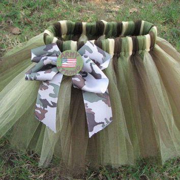 Major Cutie Army Camo Baby Girl Onesuit, from CraftingBallerinaMo