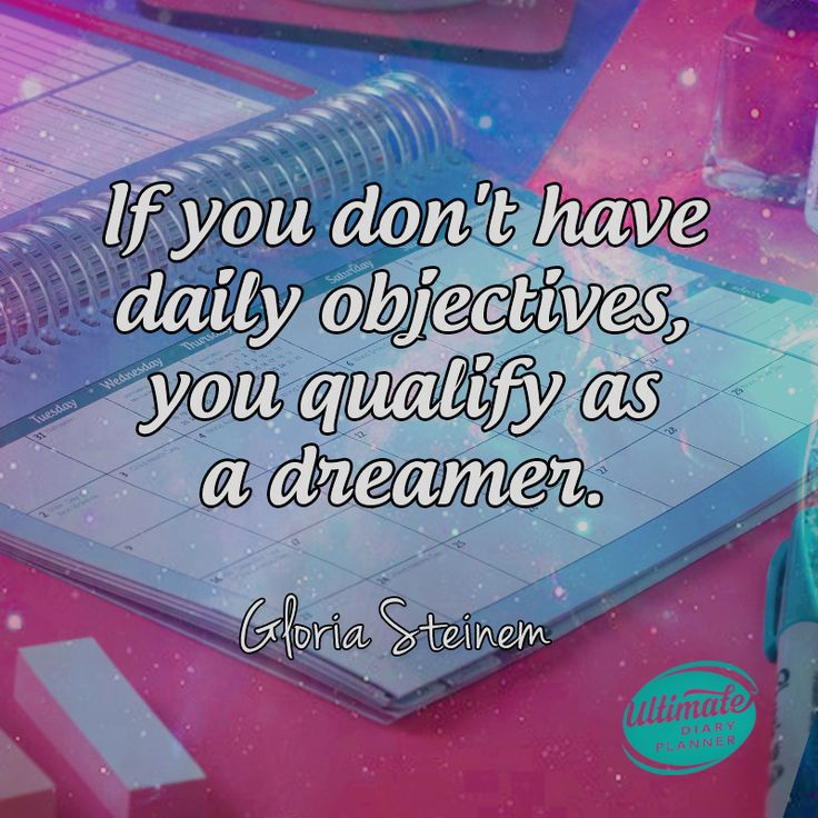 If you don't have daily objectives, you qualify as a dreamer. Zig Ziglar  Organise your life in style with the Ultimate Diary Planner. Find out more at: www.ultimatediaryplanner.com  #ultimatediaryplanner #ladiesthatplan #planner #planning #goals #plan #business