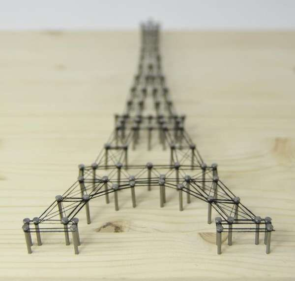 3D Architectural Wall Art http://www.trendhunter.com/trends/eiffel-tower-picture