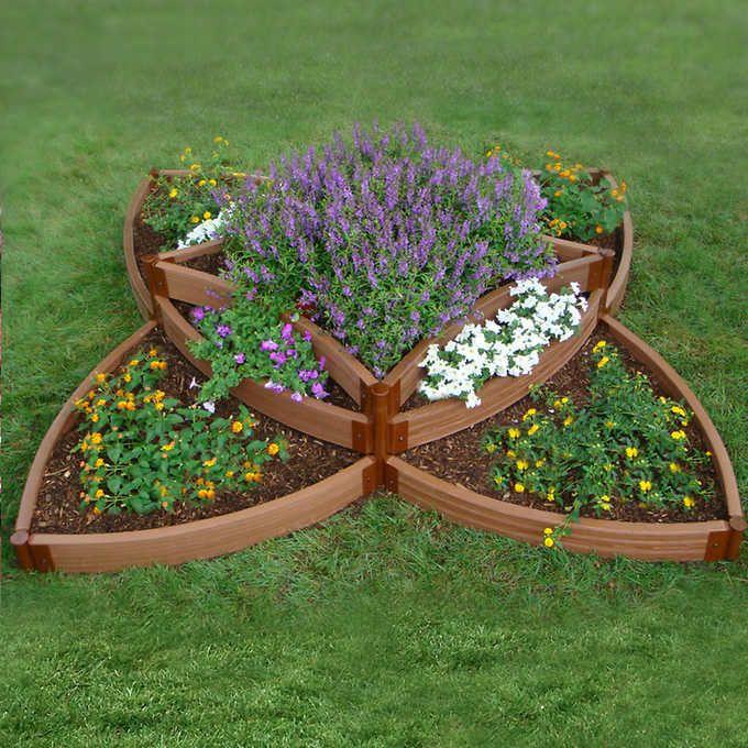 Frame-it-All® System Versailles Sunburst Raised Garden Bed Kit 8 ft. x 8 ft. x 16.5 in.