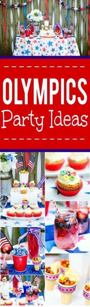 Olympics Party Ideas - Get ready to cheer Team USA on to go for the gold with these fabulous and fun Olympics party ideas to host an…