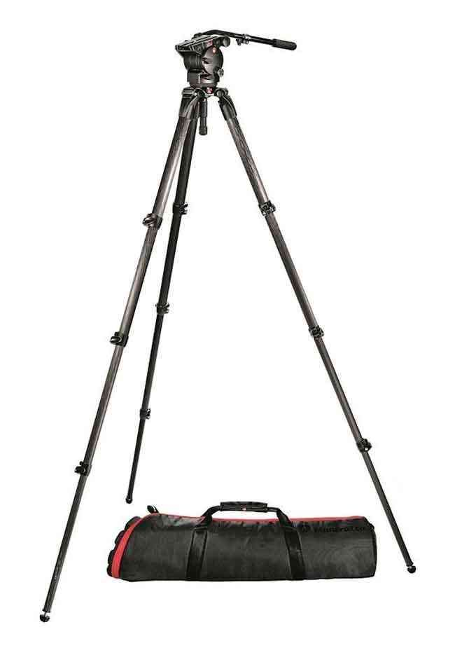 Manfrotto 536cf Mpro Tripod With 526 Fluid Video Head Tripod Fluid Video