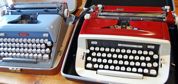 Two beautiful (& working) typewriters for sale! $75 each + shipping.   UPDATE: Red is sold.