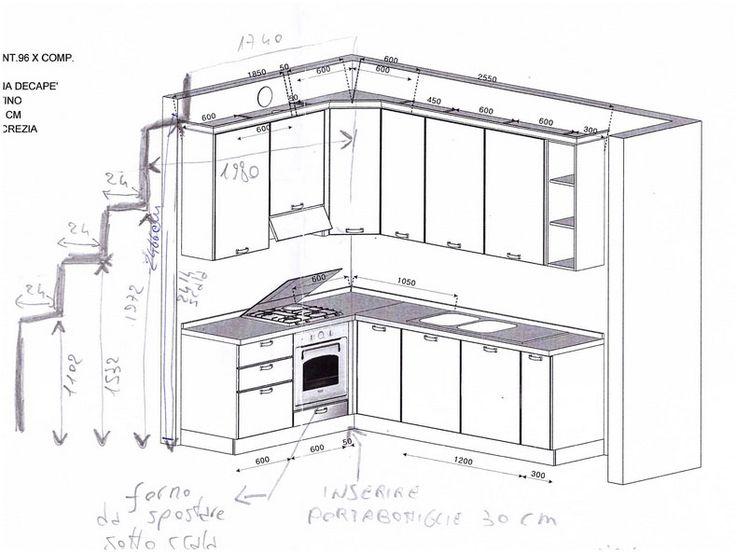 Oltre 25 fantastiche idee su modelli moderni su pinterest - Misure standard mobili cucina ...