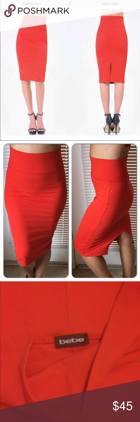 NWOT BEBE ❤ High waisted red skirt Super cute re…