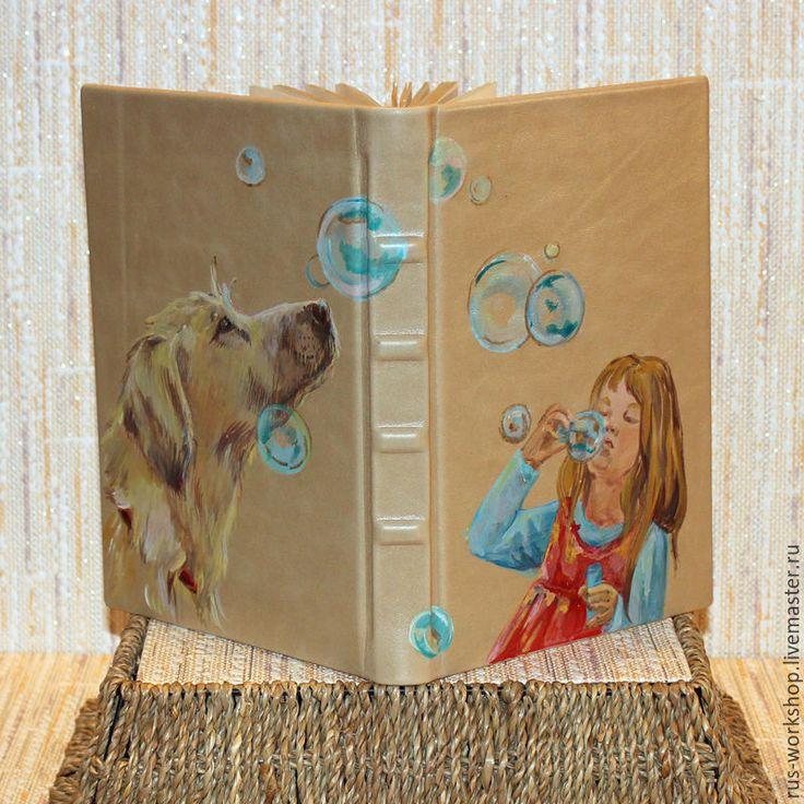 """Купить Ежедневник """"Мыльные пузыри"""" - бежевый, ежедневник, ежедневник ручной работы, ежедневник в подарок, ежедневники"""