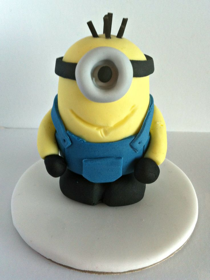 Minion cake topper.