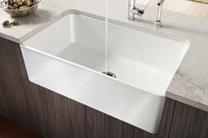 Fireclay sink sinks and blanco sinks on pinterest for Blancoamerica com kitchen sinks