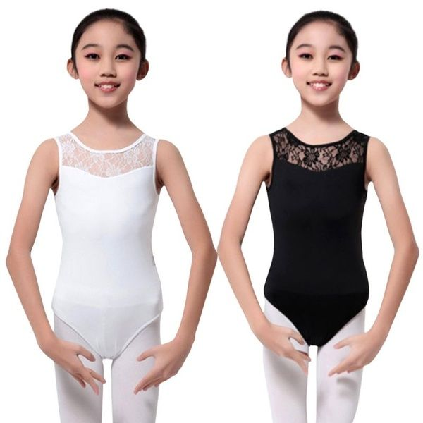 Girl NEW Ballet Dance Floral Leotard Dancing Clothes Sleeveless Bodysuit Costume