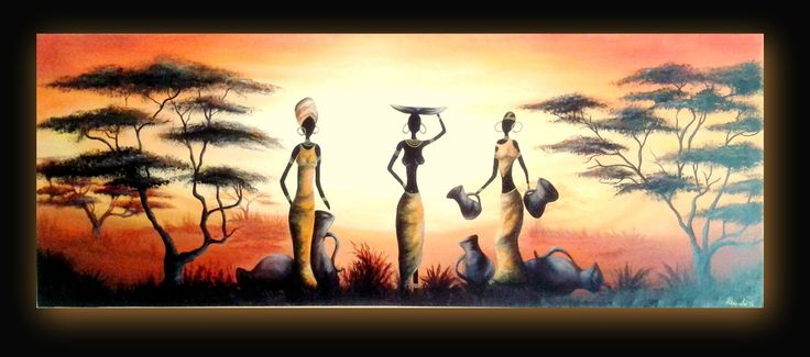Africanos - cuadros decorativos www.modernartstyles.com
