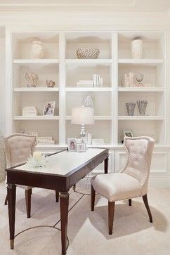 Architectural Details - transitional - home office - white