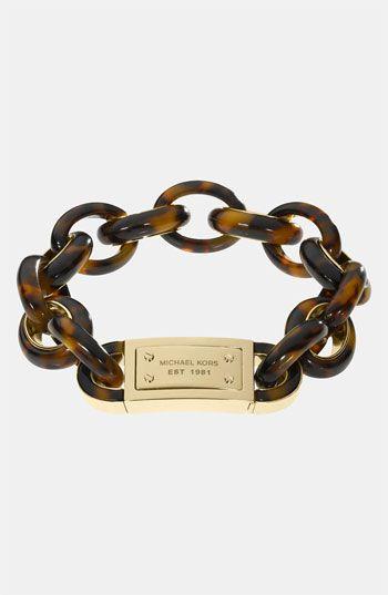 Michael Kors 'Heritage' Bracelet available at #Nordstrom: Handbags Shop, Tortise Shell, Tortoise Shell, Link Bracelets, Michael Kors Bracelet, Christmas Gift, Michaelkors
