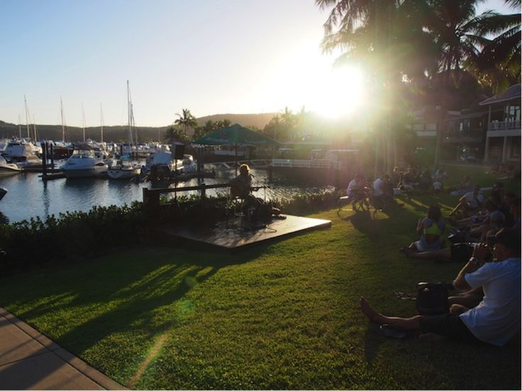 Take some food and a picnic rug and enjoy some live music at Marina Daze.