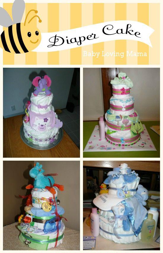 Baby shower gift homemade diaper cake craft tutorial for Diaper crafts for baby shower