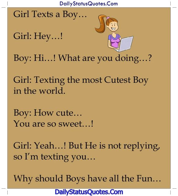 Girl and boy chating  Daily Status Quotes