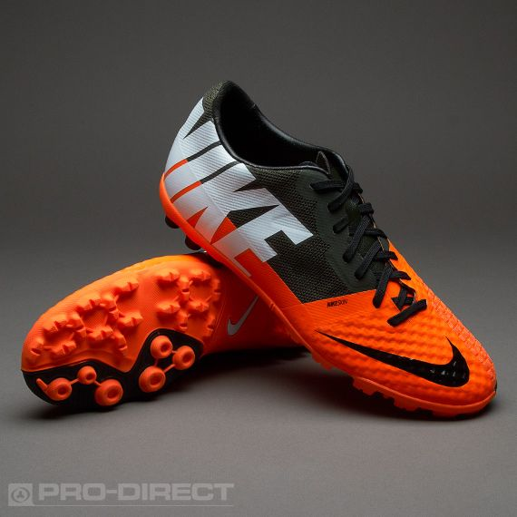 Nike Football Boots - Nike Bomba Finale II - Fives - Soccer Cleats - Total Orange-White-Sequoia