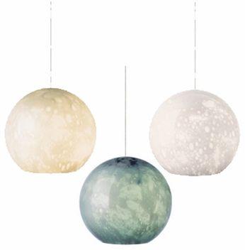 Aquarii Blown-glass Globe Contemporary Mini Pendant Light