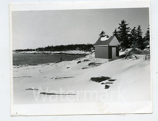 vintage 1970s photo Pemaquid Point Bristol Maine