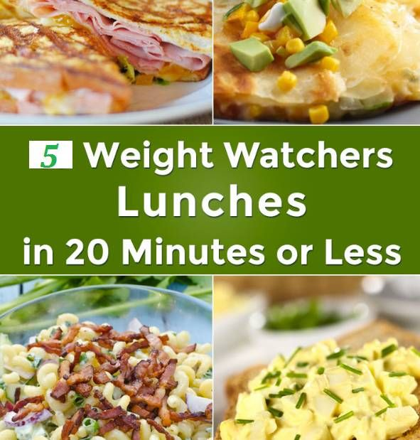5 Weight Watchers Lunches in 20 Minutes or Less – WW Recipes & Tips.