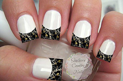 20 Nail Art Decals French Tip Camo Black *** More info could be found at the image url.