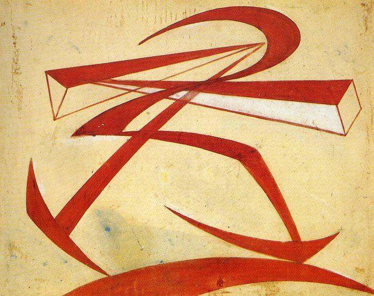 Lines-Force of Boccionis Fist - Giacomo Balla