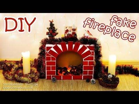 DIY Fake Fireplace With Faux Fire – Cozy Room Decor Tutorial - YouTube