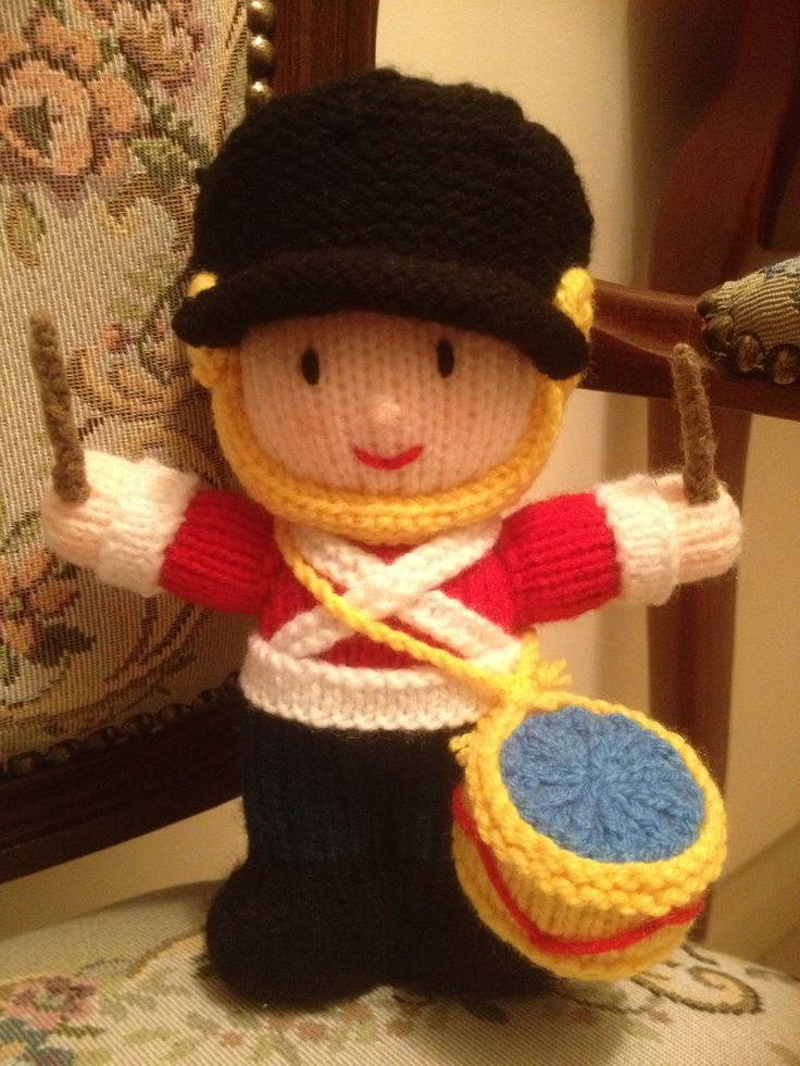Knitted toy soldier I made for my son :) | Today I'm ...