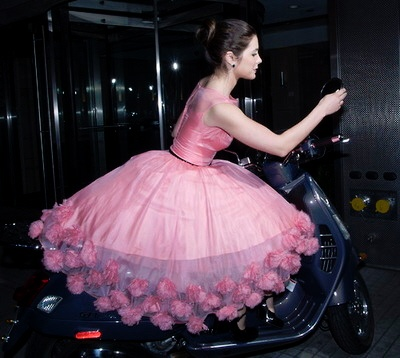 amazing pink vintage party dress!