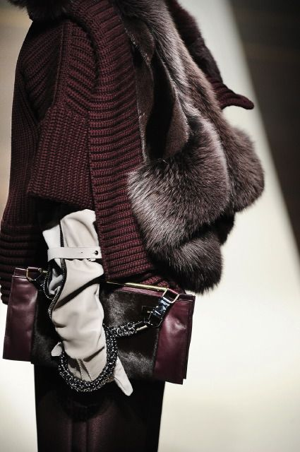 gloved fashion in details ♥✤ | Keep the Glamour | BeStayBeautiful The grey gloves pick up the light color in the fur.  Not the most obvious, but surely the best option.