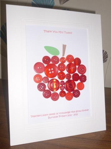 Button Apple. Teacher Gift