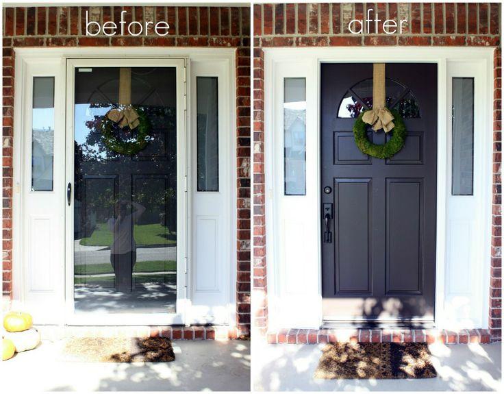 25 best ideas about storm doors on pinterest front for Front door and storm door