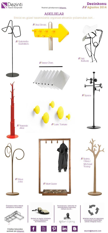 Askılıklar; evinizi organize etmenin en iyi yollarından biri...