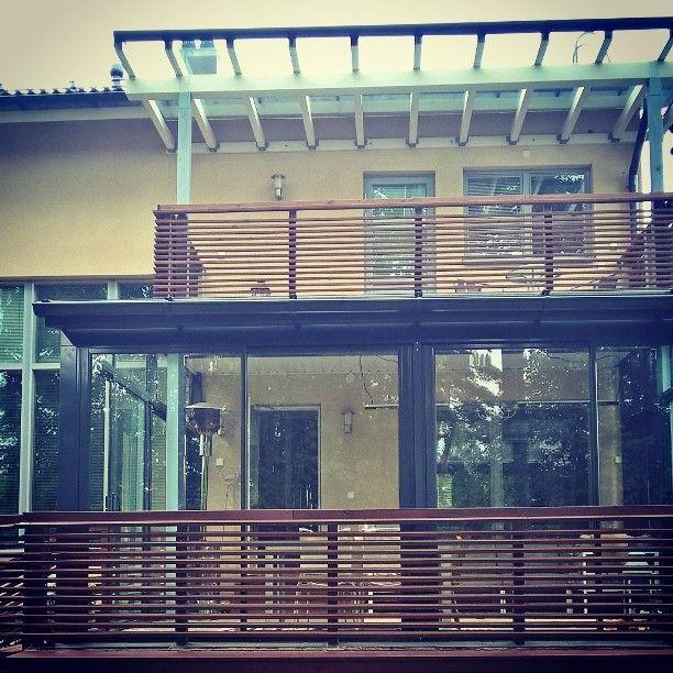 Talon tyyliin ennen kaikkea #lasiterassi #investointi #kesähuone