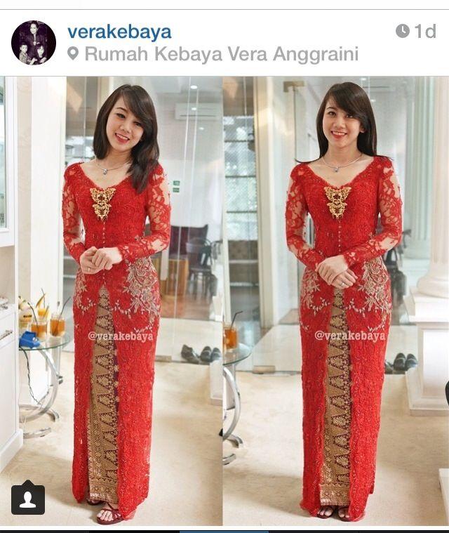 love this red kebaya ❤️❤️❤️