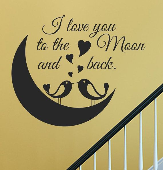 I Love You To The Moon And Back Wall Art 455 best love you to the moon and back. images on pinterest | love