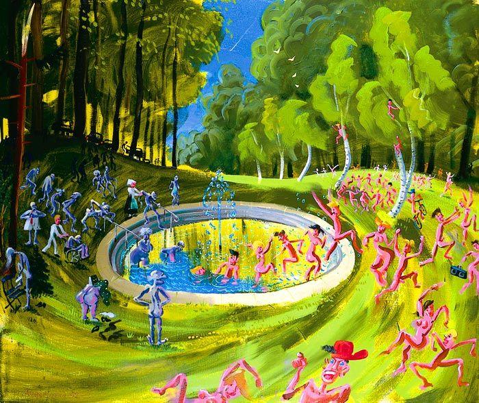 Peter Angermann - Jungbrunnen (Fountain) (1945)