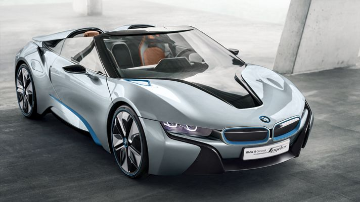 The BMW i8 Spyder is both stylish and efficient!
