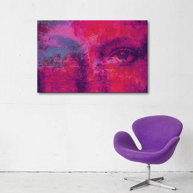 PURPLE EYES MIXGALLERY portrait,face,woman,eyse,wallart,canvas,canvas print,home decor, wall,framed prints,framed canvas,artwork,art