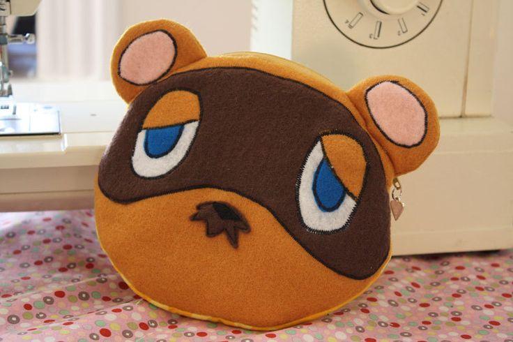 Tom Nook Animal Crossing Raccoon pouch by WonderTreasures on Etsy