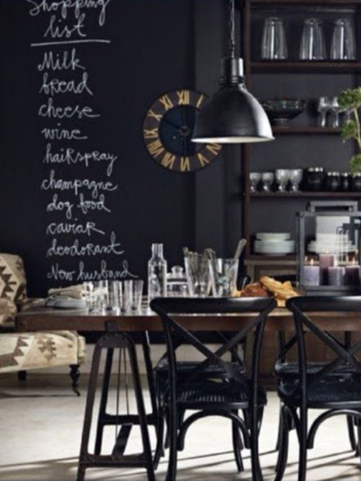 Industrial Chic Dining Room Kitchen