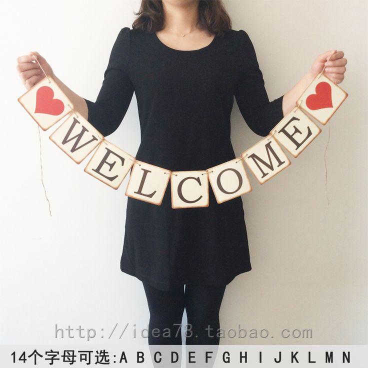 Алфавитном тянуть цветы ретро ностальгия свадебные баннеры / день рождения тянуть Флаг / украшение праздника / стрельба реквизит - Taobao
