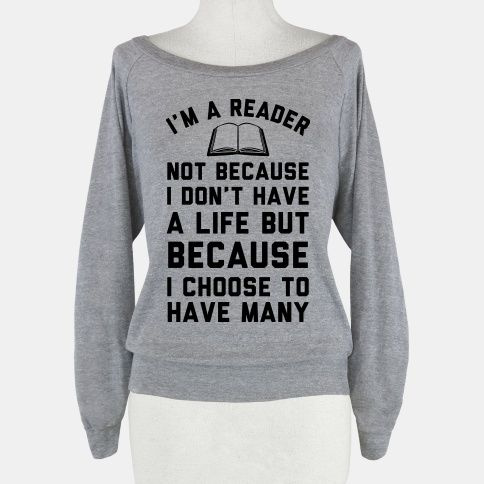 I'm a reader not because I don't have a life but because I choose to have many #books #reading